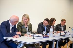 Photo: Bernd Greiner, Elke Seefried, Frank Reichherzer, Sybille Marti, Malte Rolf (v.l.n.r.), 51. Deutscher Historikertag in Hamburg 2016, by Hamburger Institut für Sozialforschung, © Bodo Dretzke